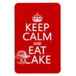 Keep Calm and Eat Cake (customize colors) Flexible Magnets
