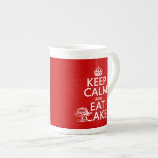Keep Calm and Eat Cake (customize colors) Tea Cup