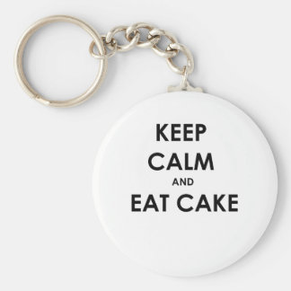 Keep Calm and Eat Cake! Keychain