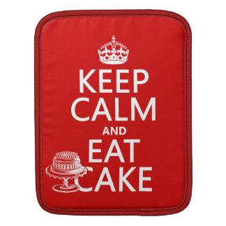 Keep Calm and Eat Cake Sleeve For iPads