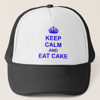 Keep Calm and Eat Cake Trucker Hat