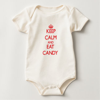 Keep calm and eat Candy Baby Bodysuit