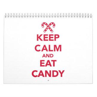 Keep calm and eat candy wall calendar