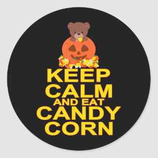 Keep Calm And Eat Candy Corn Classic Round Sticker