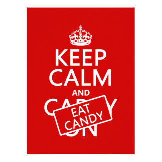 Keep Calm and Eat Candy customize colors Invitation