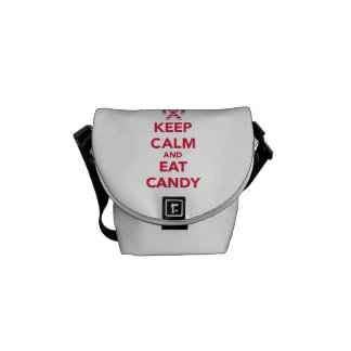 Keep calm and eat candy courier bags