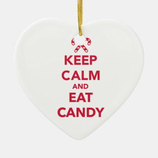 Keep calm and eat candy christmas tree ornaments