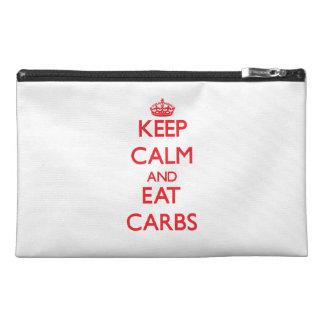 Keep calm and eat Carbs Travel Accessories Bag