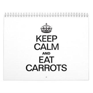 KEEP CALM AND EAT CARROTS CALENDAR