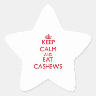 Keep calm and eat Cashews Sticker