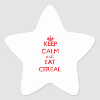 Keep calm and eat Cereal Stickers