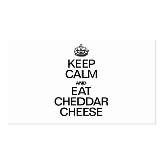KEEP CALM AND EAT CHEDDAR CHEESE Double-Sided STANDARD BUSINESS CARDS (Pack OF 100)