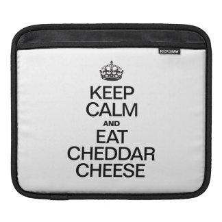 KEEP CALM AND EAT CHEDDAR CHEESE iPad SLEEVES