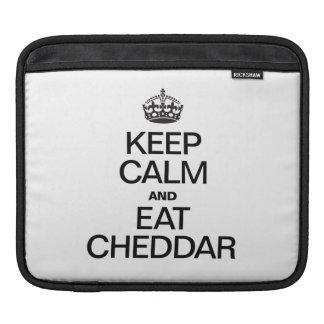 KEEP CALM AND EAT CHEDDAR iPad SLEEVE