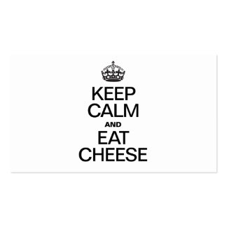 KEEP CALM AND EAT CHEESE Double-Sided STANDARD BUSINESS CARDS (Pack OF 100)