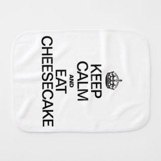 KEEP CALM AND EAT CHEESECAKE BABY BURP CLOTH