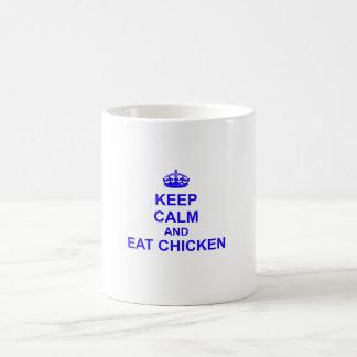 Keep Calm and Eat Chicken Coffee Mug