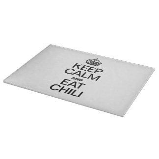 KEEP CALM AND EAT CHILI CUTTING BOARD