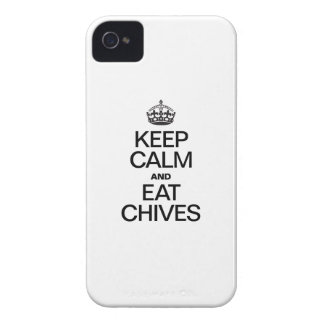 KEEP CALM AND EAT CHIVES Case-Mate iPhone 4 CASES