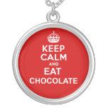 Keep Calm and Eat Chocolat Custom Jewelry