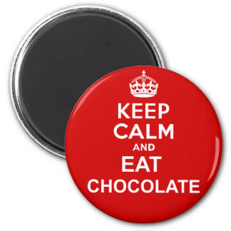 Keep Calm and Eat Chocolate 2 Inch Round Magnet