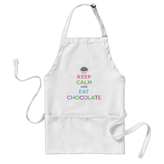 Keep Calm and Eat Chocolate Adult Apron