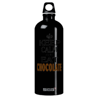 Keep Calm and Eat Chocolate Aluminum Water Bottle