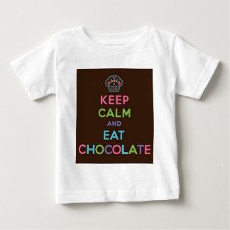 Keep Calm And Eat Chocolate Baby T-Shirt