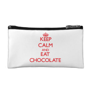 Keep calm and eat Chocolate Cosmetic Bags