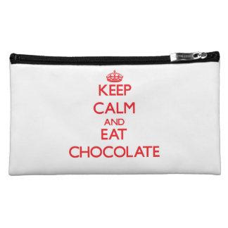 Keep calm and eat Chocolate Cosmetics Bags