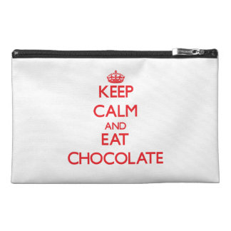 Keep calm and eat Chocolate Travel Accessory Bags
