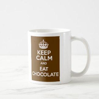 Keep Calm and Eat Chocolate Coffee Mug