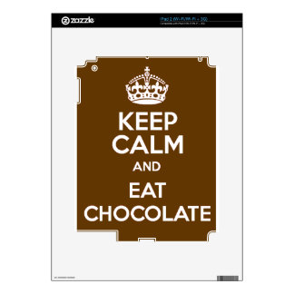 Keep Calm and Eat Chocolate Decal For iPad 2