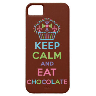 Keep Calm and Eat Chocolate iPhone 5 iPhone 5 Covers