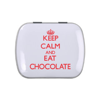 Keep calm and eat Chocolate Jelly Belly Tins