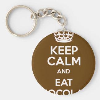 Keep Calm and Eat Chocolate Keychain