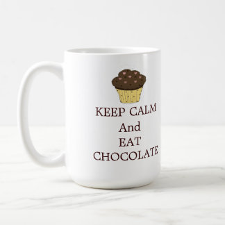 Keep Calm and Eat Chocolate Classic White Coffee Mug