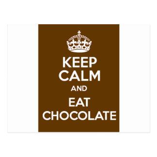 Keep Calm and Eat Chocolate Postcard