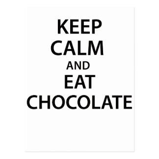 Keep Calm and Eat Chocolate! Postcard