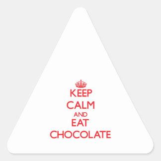 Keep calm and eat Chocolate Triangle Sticker