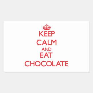 Keep calm and eat Chocolate Rectangular Sticker