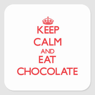 Keep calm and eat Chocolate Stickers