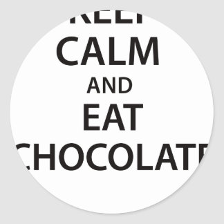Keep Calm and Eat Chocolate! Sticker