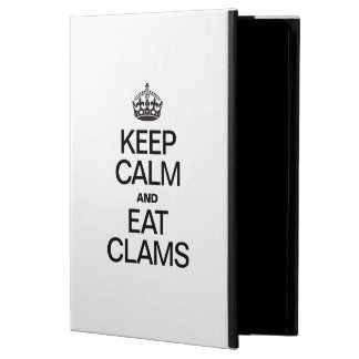 KEEP CALM AND EAT CLAMS iPad AIR CASES