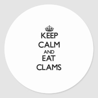 Keep calm and eat Clams Stickers