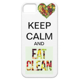 KEEP CALM AND EAT CLEAN iPhone 5 COVERS