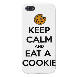 keep calm and eat cookie cookies chocolate chips j iPhone SE/5/5s cover