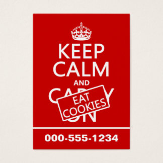 Keep Calm and Eat Cookies Business Card