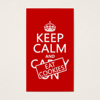 Keep Calm and Eat Cookies (customizable) Business Card