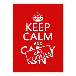 Keep Calm and Eat Cookies customizable Custom Invites